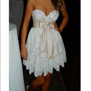 Sherri Hill Dresses - Sherri Hill Blush Short Formal Dress